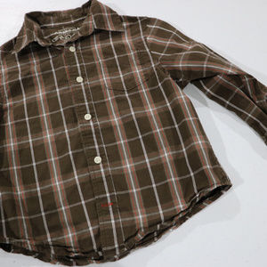 Arizona Shirts & Tops - Brown Button Up Long Sleeve Boys Shirt L